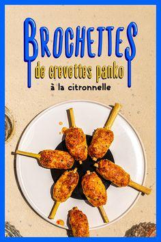 Des brochettes de crevettes pankomme les autres. #crevette #crevettes #shrimp #brochettes #skewers #kabobs #panko #breadcrumbs #citronnelle #lemongrass #gingembre #ginger #apéro #collation #hors d'oeuvres #bouchées #appetizers #bites #été #summer #recette #recettes d'ici #recipe #facile #easy Poulet General Tao, Tasty Videos, Asian Recipes, Carrots, Recipies, Food And Drink, Appetizers, Cocktail, Vegetables