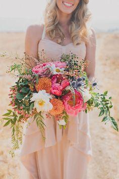 gorgeous colourful summer bouquet