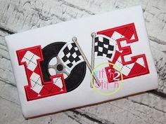 Racing Love Applique