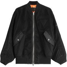 Alexander Wang Boyfriend Bomber Jacket (€989) ❤ liked on Polyvore featuring outerwear, jackets, coats, bomber jacket, black, oversized bomber jackets, flight bomber jacket, urban jackets and bomber style jacket