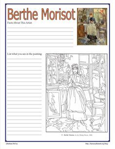 Morisot notebook page intimate impressionists