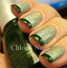 Nails - the green would be cute for St. Patrick's Day, but you can do it in any colors