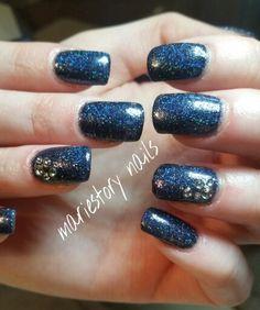 Midnight nails by @ mariestory nails