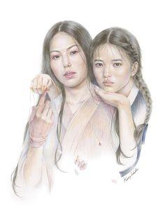 영화 아가씨 (The Handmaiden, a Film by Park Chan-Wook - 일러스트레이션 Ink Painting, Woman Painting, Figure Painting, Park Chan Wook, Pop Culture Art, Aesthetic Movies, Drawing Skills, Film Stills, Calligraphy Art