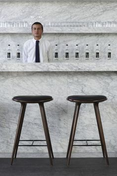 upscale bar area made possible with Carrara marble! (o and some handles don't hurt either :)