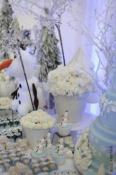 decoração frozen | Anfitriã como receber em casa, receber, decoração, festas, decoração de sala, mesas decoradas, enxoval, nosso filhos