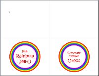 Free Rainbow Party Printables | Mess For Less