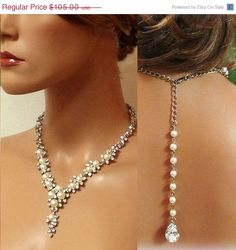 Bridal jewelry  Bridal back drop bib necklace  by BijouxandCouture, $73.50
