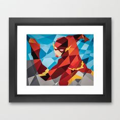 DC Comics Flash Framed Art Print