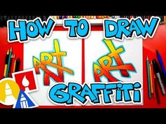 How To Draw The Word Art (Simple Graffiti Style) + Challenge Time - pinnervoir Graffiti Names, Graffiti Styles, Graffiti Lettering, Hand Lettering, Art For Kids Hub, Art Hub, Art Lessons For Kids, Graffiti Drawing, Graffiti Art