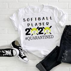 Softball Players The One Where They Were Quarantined SVG Files For Silhouette, Files For Softball Tshirts, Softball Memes, Softball Uniforms, Softball Problems, Softball Cheers, Softball Players, Girls Softball, Fastpitch Softball, Softball Stuff