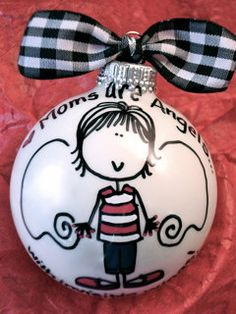 Mom Gift - Hand Painted Personalized Ornament - Order this design for ANY family or friend