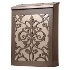 #bldgproductoftheday this Victoria Wall-Mount Mailbox is gorgeous, and comes in 3 finish options and 3 background color panels, so you can choose the combination that complements your home best! $175.00 from www.frontgate.com