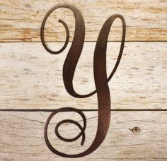 "Plasma Cut Steel Brown Monogram Letter ""Y"" Home Wall Decoration Art Sign!   #Unbranded #ArtDecoStyle"