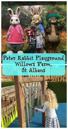 What awaits at the world's only Peter Rabbit Adventure Playground at Willows Activity Farm near London?