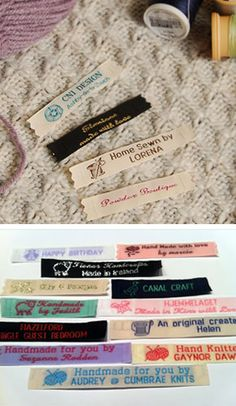 """Custom woven name tapes 1/2"""" or 12mm"""