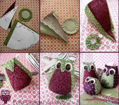 Um tutorial para fazer corujinhas lindas, de tecido