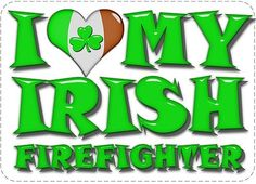 I Heart My Irish Firefighter Reflective 6 Inch Decal SKU: D1060-0002 on Etsy, $10.00