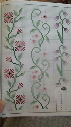 Cross Stitch Boarders, Fall Cross Stitch, Cross Stitch Bookmarks, Mini Cross Stitch, Cross Stitch Flowers, Cross Stitching, Cross Stitch Patterns, Embroidery Stitches, Embroidery Patterns