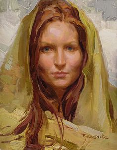 Rebecca in Yellow Scarf - Scott Burdick