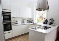 Small high gloss white kitchen design