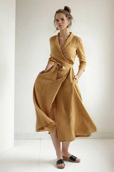 acea73cc01a 48 Most inspiring linen dress pattern images