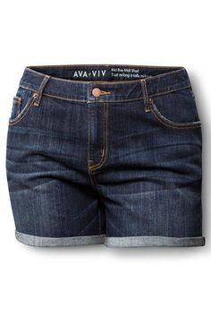 AVA & VIV Denim Short in Dark Wash, $24.99, available at Target.