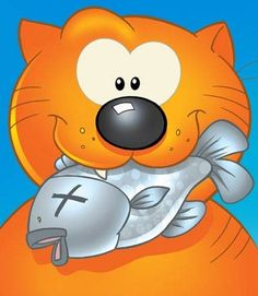 """Heathcliff -- As Garfield would say """"Show me a Cat that eat's Fish and I'll show you a Cat with bad breath!"""""""