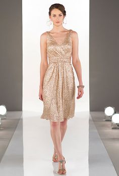Sorella Vita. See more details from Sorella Vita��Brilliant modern metallic matte sequin dress features ruching throughout the bodice. Flowing skirt, classic V-neck and slimming cinched waist.