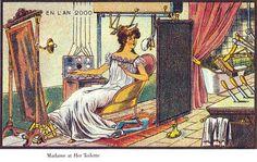 Home automation (in bagno) disegnata nel 1900
