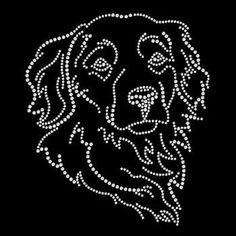Rhinestone Golden Retriever Dog SHORT SLEEVE Womans T Shirt RWL0204 #Unbranded #EmbellishedTee