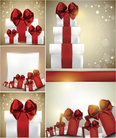 #Christmas gift boxes backgrounds #vector