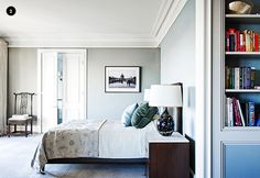 Lovely paint colour for the bedroom