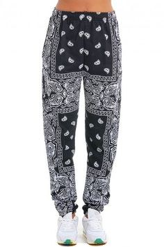 Svarta Paisley Sweatpants - Gangsta Bitch