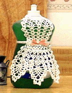 Crochet Dishsoap Apron Pattern - (classic dishsoap pattern taken to the next level)