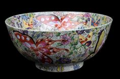 China 20. Jh. Schmetterling Schale - A Chinese Export Porcelain Bowl - Cinese