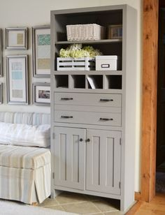 Ana White | Build a Tall Secretary Cabinet with Mail Slots | Free and Easy DIY Project and Furniture Plans