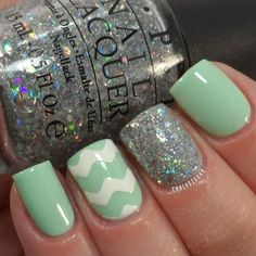 OPI- Which Is Witch? & Gargantuan Green Grape, Chinaglaze- Glistening Snow and Sal... | Use Instagram online! Websta is the Best Instagram Web Viewer!