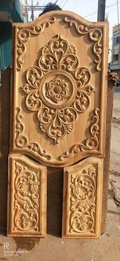 Wooden Door Design, Wooden Doors, Ceiling Design Living Room, Living Room Designs, Single Door Design, Main Door, Wedding Stage, Single Doors, Divider