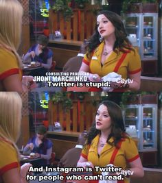 2 Broke Girls hhaha luv this show haha 2 Broke Girls, Kat Dennings, Max Black, Pictures Of The Week, Look At You, Girl Humor, Best Tv, Laugh Out Loud, Favorite Tv Shows