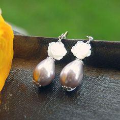 purple pearl earring.