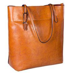 S-ZONE Vintage Genuine Leather Tote Shoulder Bag Handbag Big Large Capacity  - http  261b10e0e5