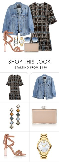 """Untitled #518"" by victoriaam99 ❤ liked on Polyvore featuring Markus Lupfer, Y/Project, DANNIJO, Judith Leiber, Gianvito Rossi, Movado and Christian Dior"