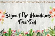DLOLLEYS HELP: Beyond The Mountains Fee Font
