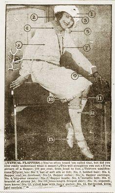Fashion – The Typical Flapper – 1922 News Headline. Vintage Love, Vintage Photos, Retro Vintage, Roaring Twenties, The Twenties, Dh Lawrence, Cotton Club, 1920s Flapper, Jazz Age