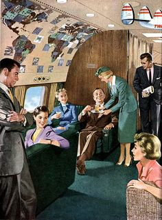 Space abound in the 1950s Super G lounge.