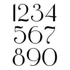 Two sets of Victorian style mailbox numbers, one for each side of your mailbox. A curvy and scrolly typeface that Victoria herself would approve of. Bullet Journal Numbers, Typography Letters, Hand Lettering, Victorian Mailboxes, Cursive Numbers, Number Icons, Mailbox Numbers, Doodle Fonts, Mailbox Decals