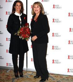 Princess Marie and actor Susse Wold, President of Danish AIDS Foundation