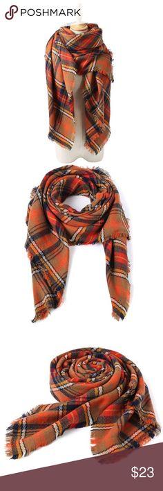 Selling this Oversized Zara Inspired Burnt Orange Blanket Scarf on Poshmark! My username is: carrieburke. #shopmycloset #poshmark #fashion #shopping #style #forsale #Sweaters