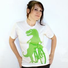 American Apparel BICYCLE SHIRT  DINOSAUR T by darkcycleclothing, $21.00